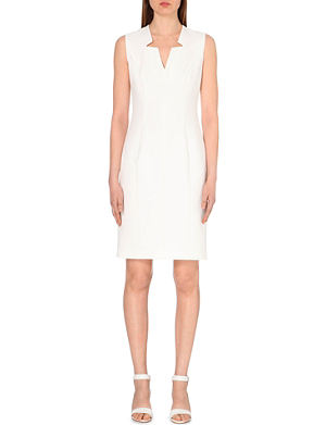 HUGO BOSS Dimita notched stretch-crepe dress