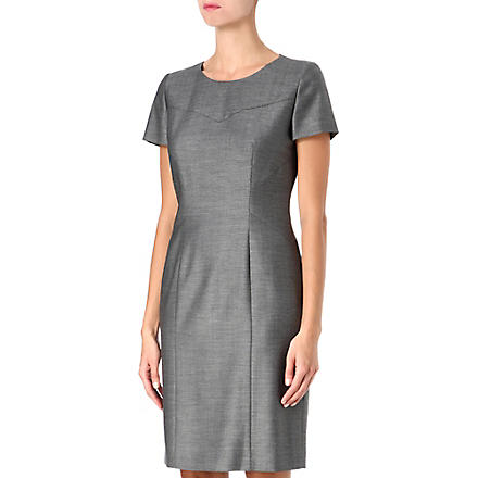 HUGO BOSS Pin-dot shift dress (Grey
