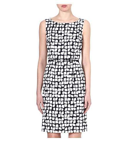 HUGO BOSS Dinoma printed dress (Navy