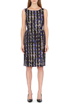 HUGO BOSS Tailored abstrasct-print dress