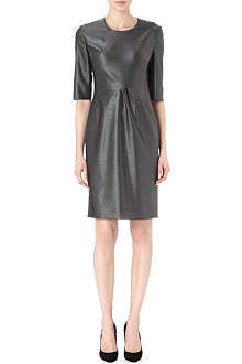 HUGO BOSS Pleated wool-blend dress
