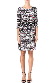 HUGO BOSS Paint pattern silk dress