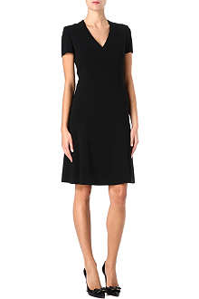 HUGO BOSS Fitted flared crepe dress
