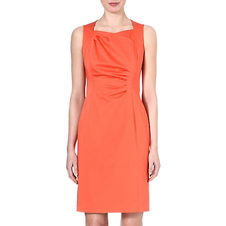 HUGO BOSS Dosura pleated dress (Coral