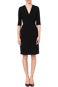 HUGO BOSS Drapiela crepe dress