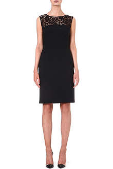 HUGO BOSS Durana lace-detail sleeveless dress