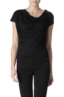 HUGO BOSS Cowl-neck jersey top