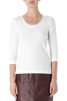 HUGO BOSS Satin-neck jersey top