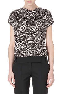 HUGO BOSS Patterned cowl-neck top