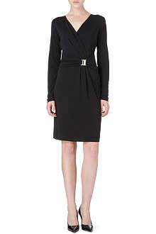 HUGO BOSS Wrap-front jersey dress