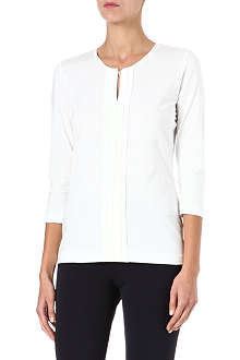 HUGO BOSS Silk pleat placket top