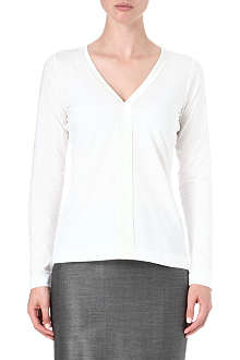 HUGO BOSS V-neck silk placket top