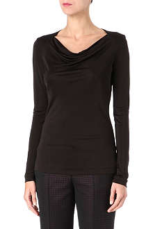 HUGO BOSS Long-sleeved ruched top