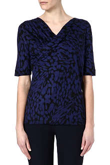 HUGO BOSS Marbled print jersey top