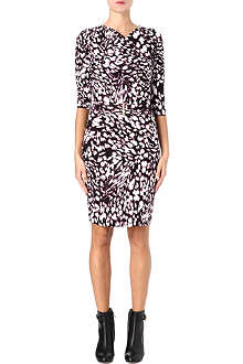 HUGO BOSS Marble-print jersey dress
