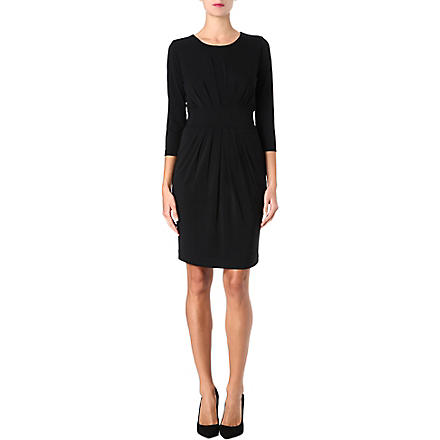 HUGO BOSS Pleated jersey dress (Black