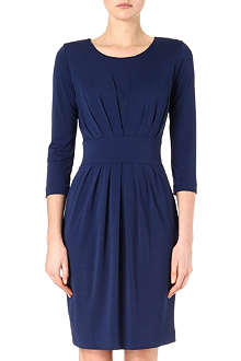 HUGO BOSS Pleated jersey dress