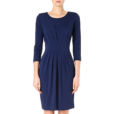 HUGO BOSS Pleated jersey dress (Blue