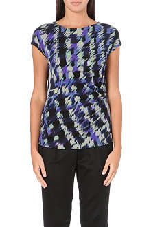 HUGO BOSS Abstract-print jersey top