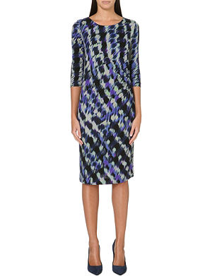 HUGO BOSS Printed jersey dress