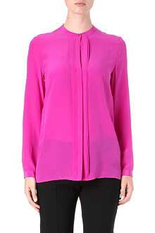 HUGO Collarless silk blouse