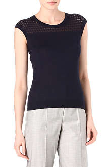 HUGO BOSS Crochet knit top