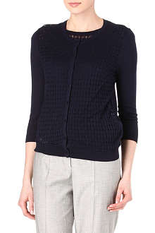 HUGO BOSS Crochet knit cardigan