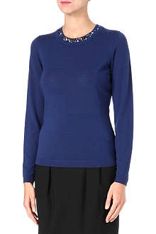 HUGO BOSS Jewelled virgin wool sweater