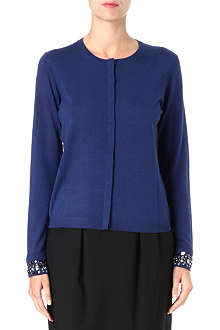 HUGO BOSS Jewelled wool cardigan