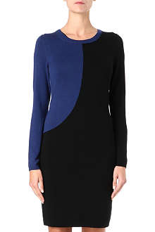 HUGO BOSS Knitted colour-blocked dress
