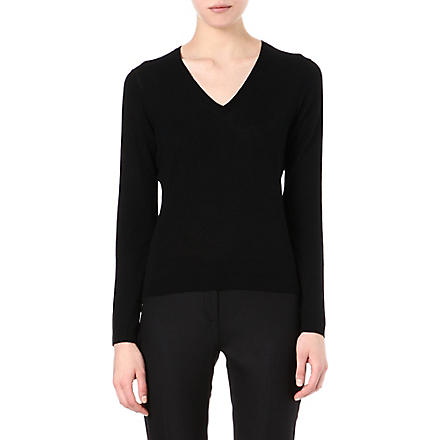 HUGO BOSS Fine-knit jumper (Black