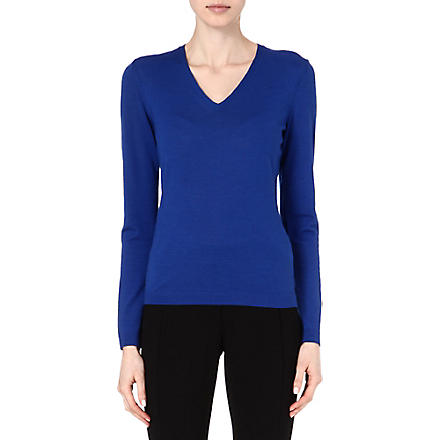 HUGO BOSS Fine-knit jumper (Blue