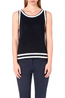 HUGO BOSS Stripe sleeveless knit top