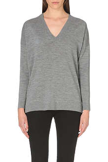 HUGO BOSS Merino wool v-neck jumper