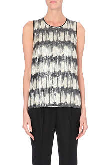 HUGO BOSS Metallic sleeveless top