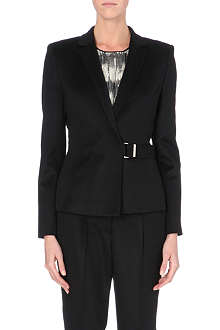 HUGO BOSS Jesila belt-detail camel-hair blazer