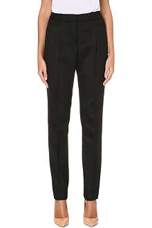 HUGO BOSS Tumena straight-leg camel-hair trousers