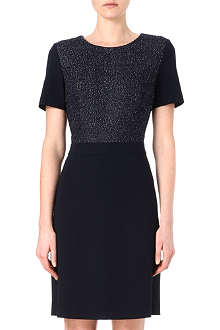 HUGO BOSS Contrast tweed panel dress