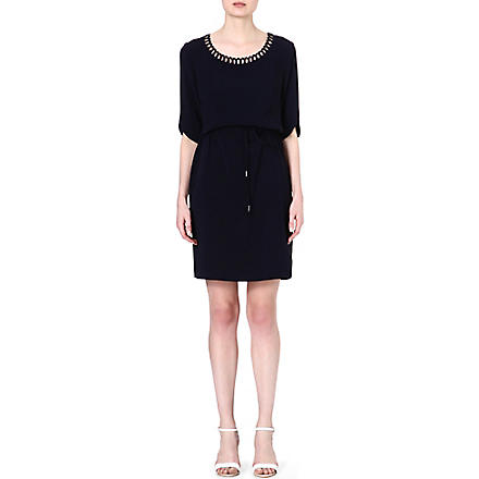 HUGO BOSS Henryke scallop dress (Navy