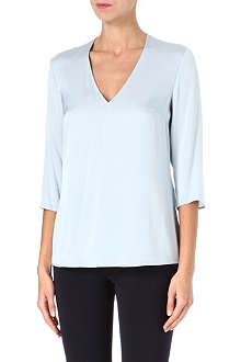 HUGO BOSS V-neck silk-blend top