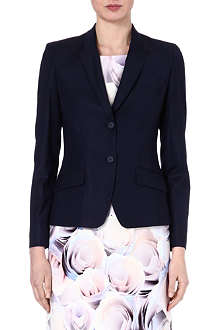 HUGO BOSS Cropped wool-blend jacket