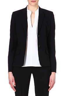 HUGO BOSS Wool-blend single-breasted jacket