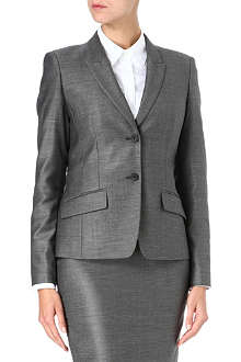 HUGO BOSS Single-breasted pin-dot wool-blend suit jacket