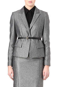 HUGO BOSS Wool-blend tweed jacket
