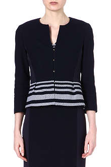 HUGO BOSS Jeisina stripe crop jacket
