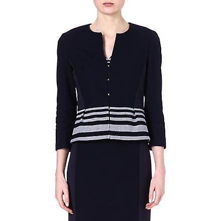 HUGO BOSS Jeisina stripe crop jacket (Navy
