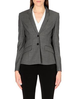 HUGO BOSS Fitted woven wool-blend blazer