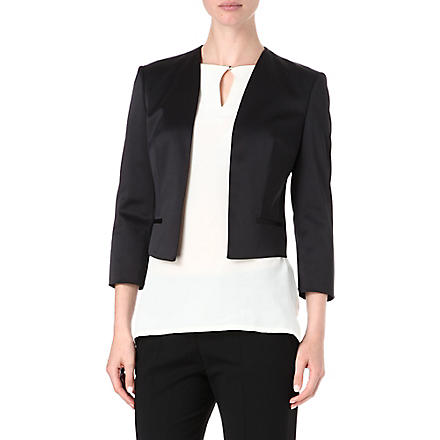 HUGO BOSS Jianne satin jacket (Black