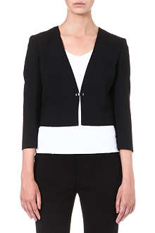 HUGO BOSS Cropped crepe jacket