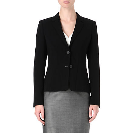 HUGO BOSS Single-breasted crepe suit jacket (Black
